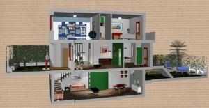 Progetto di ristrutturazione di un'abitazione su tre livelli in Taranto